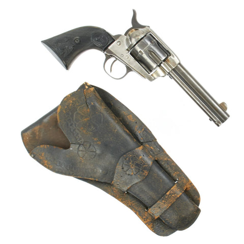 Original U.S. Colt .41cal Single Action Army Revolver made in 1891 with Vintage Holster - Serial 141354 Original Items