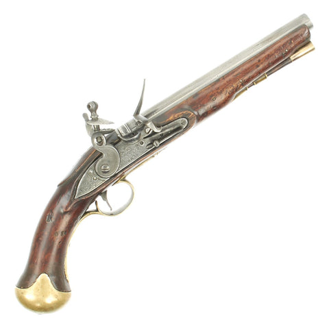 Original British Napoleonic Era M-1801 Tower-Marked Short Sea Service Flintlock Pistol - c.1800