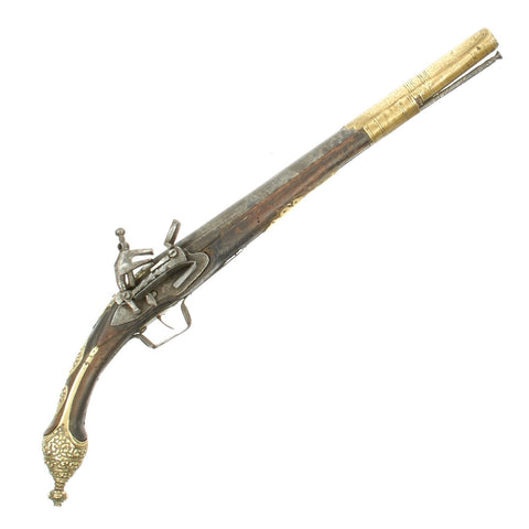 Original Barbary Pirate Miquelet Lock Pistol from North Africa - circa 1800-1815