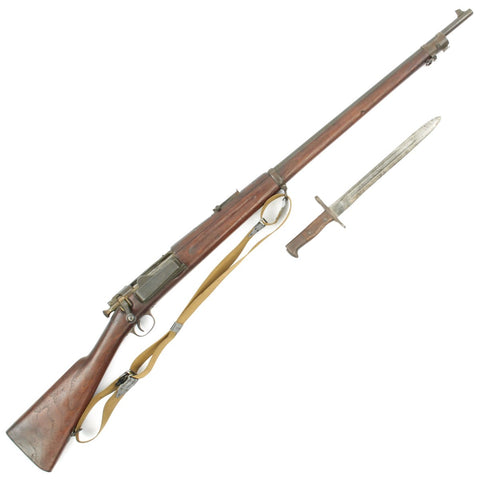 Original U.S. Springfield M1896 .30-40 Krag-Jørgensen Rifle Serial 660693 with Bayonet and Sling - Made in 1896 Original Items