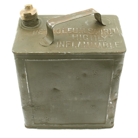 Original British WWI June 1917 Dated Vickers Machine Gun Water Can - Petrol 2 Gallons Original Items