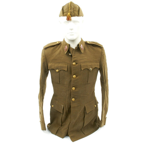 Original Spanish Fascist Officer's Tunic and Side Cap from the Spanish Civil War 1936-1939 Original Items