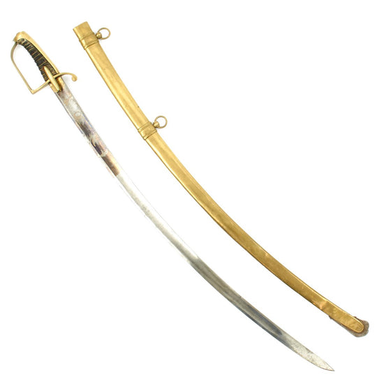 Original French Napoleonic Era Officer's Saber with Brass Scabbard Circa 1805