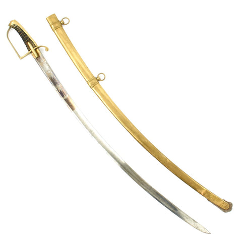 Original French Napoleonic Era Officer's Saber with Brass Scabbard Circa 1805 Original Items