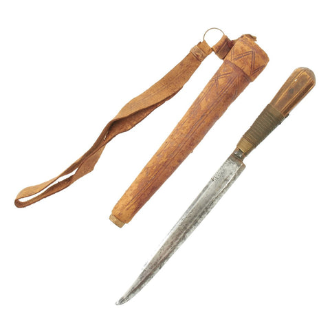 Original Late 18th Century Persian Small Dagger in Wrist Scabbard Original Items