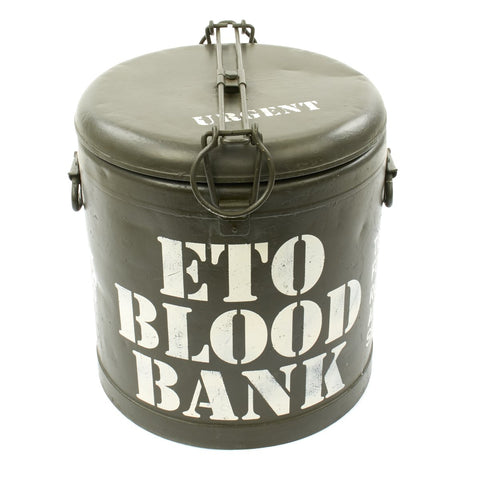 Original U.S. WWII ETO Blood Bank M-1941 Mermite Can Dated 1942