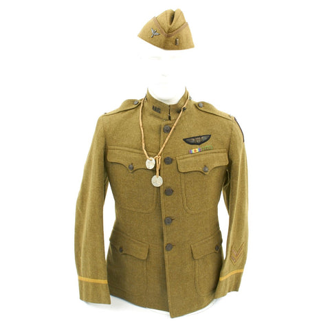 Original U.S. WWI Named Pilot Aero Squadron Uniform Set Original Items