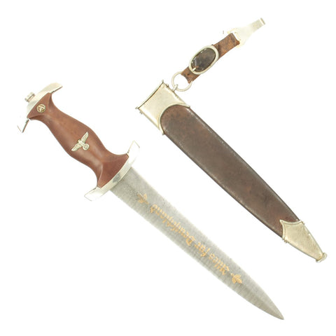 Original German WWII Atwood Production SA Presentation Dagger by Clemen & Jung with Damascus Blade Original Items