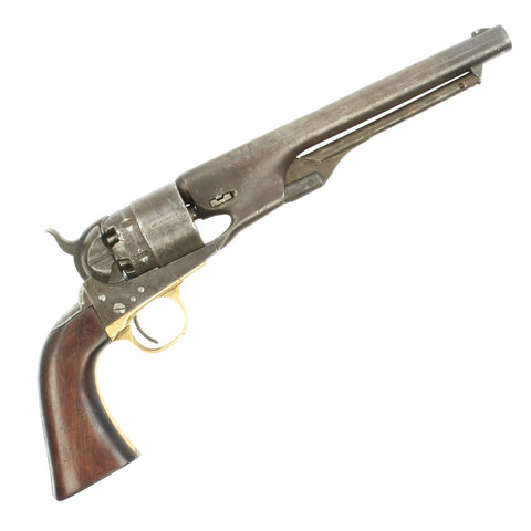 Original U.S. Civil War Colt Model 1860 Army Four Screw Revolver Manufactured in 1862 - Matching Serial No 40914