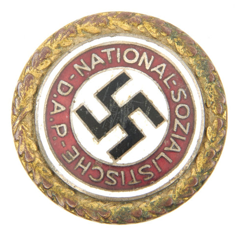 Original German WWII NSDAP Golden Party Badge Pin Original Items