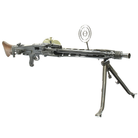 Original German WWII MG 42 Display Machine Gun made in 1944 by Steyr with Belt Carrier and Anti-Aircraft Sight Original Items