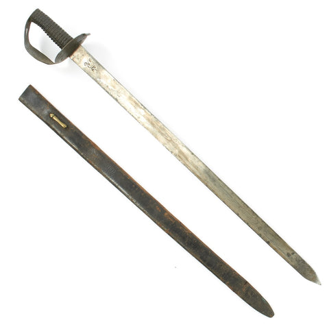 "Original British Napoleonic P-1804 ""Figure Eight"" Naval Boarding Cutlass with Scabbard - Battle of Trafalgar Period Original Items"