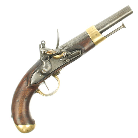 Original French Napoleonic Model An XIII Flintlock Cavalry Pistol made at Charleville Arsenal - dated 1809 Original Items