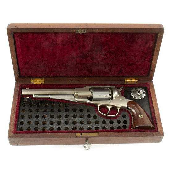 Original U.S. Remington-Rider New Model Revolver .38 RF Conversion with Custom Wood Case - Serial 5414