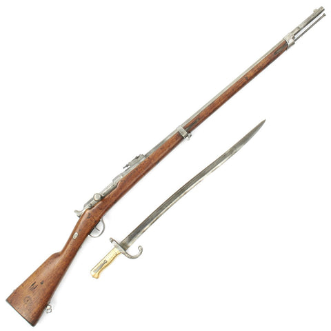 Original French Fusil Mle 1866 Chassepot Needle Fire Rifle by Rare Maker with Bayonet - Dated 1870/71 Original Items