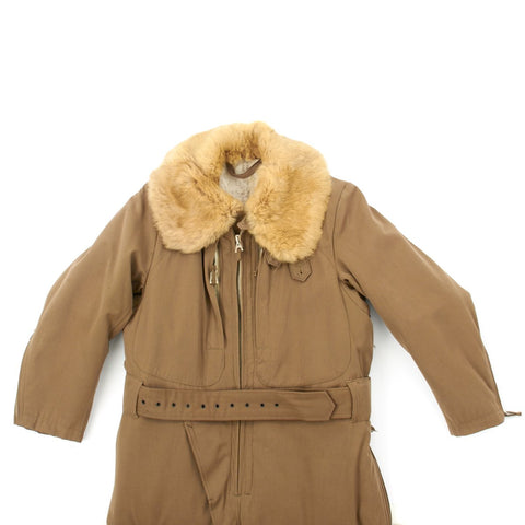 Original Imperial Japanese WWII Winter Fur Lined Pilot Electric Heated Flight Suit Original Items