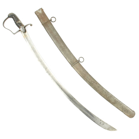 Original British Napoleonic P-1796 Light Dragoon Saber with Scabbard Marked to the 10th Light Dragoons Original Items