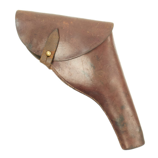 Original British WWI Officer's .455 Webley Revolver Leather Holster by Hepburn Gale & Ross - Dated 1916