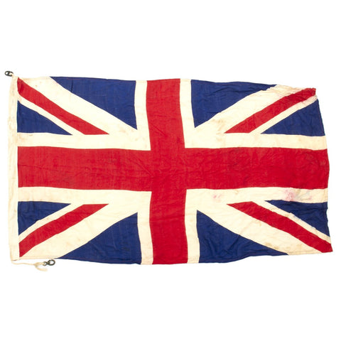 "Original British WWI 60"" x 34"" Union Jack Flag by J&S - Broad Arrow Marked and Dated 1916 Original Items"