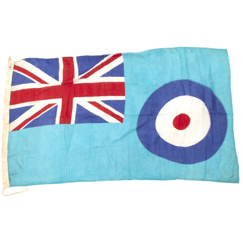 "Original British WWII 60"" x 35"" R.A.F. 1940-dated Station and Air Field Flag - Air Ministry Marked Original Items"