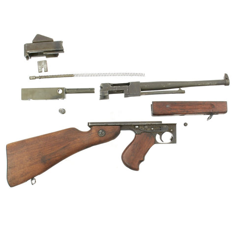 Original U.S. WWII Thompson M1A1 SMG Parts Set with Original Barrel and Partial Receiver - Serial 279654 Original Items