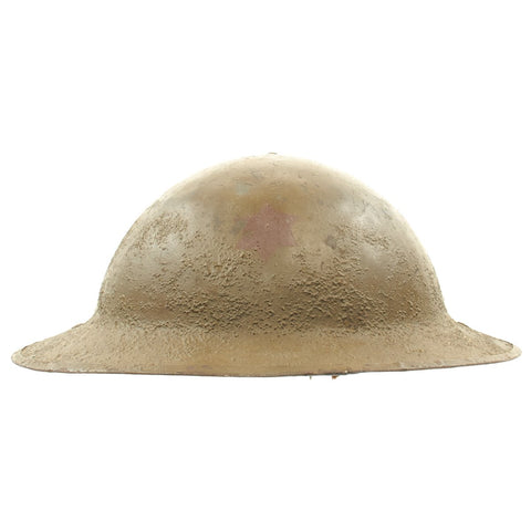 Original U.S. WWI M1917 Doughboy Helmet of the 6th Infantry Division with Original Paint and Liner