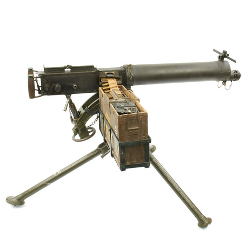 Original British WWII Vickers Display Machine Gun with Tripod and Accessories