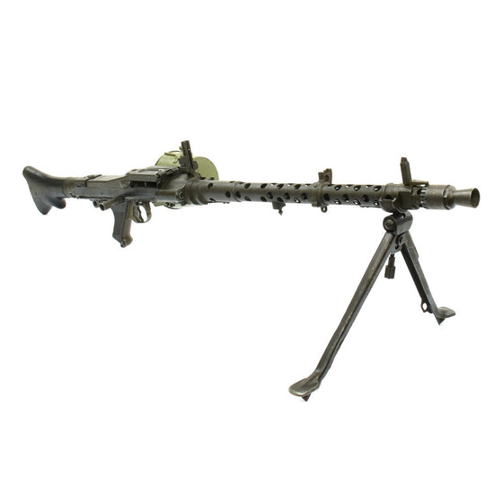 Original German WWII MG 34 Display Machine Gun with Basket Carrier - marked dot 1945