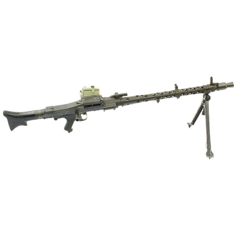 Original German WWII MG 34 Display Machine Gun with Basket Carrier - marked dot 1945 Original Items