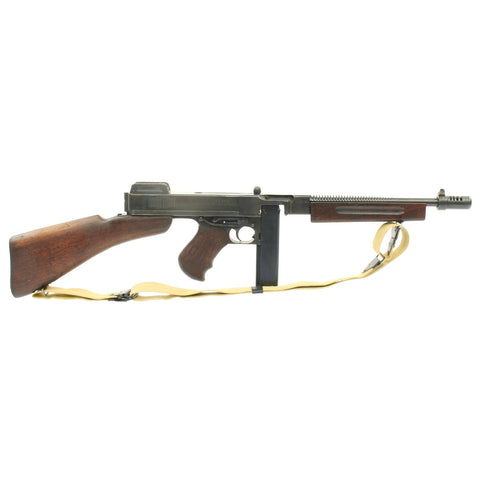 Original U.S. WWII Thompson M1928A1 Display Submachine Gun Serial NO.S - 317167 with Sling - Original WWII Parts