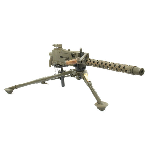 Original U.S. WWII Browning .30 Caliber 1919 Display Machine Gun with Tripod, T & E, and Pintle Original Items