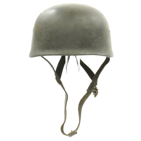 Original German WWII M38 Luftwaffe Paratrooper Helmet - ckl 71