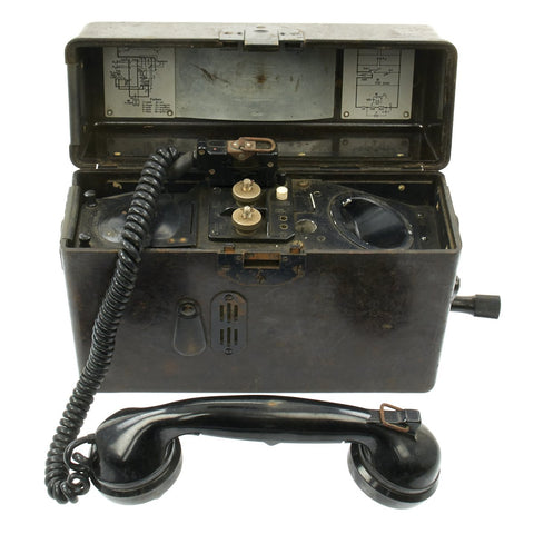 Original German WWII 1940 dated FF 33 Field Telephone by Brückner und Stark - Named USGI Bring-back Original Items