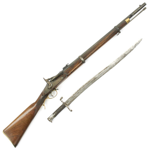 Original British Pattern-1864 Gurhka Snider Artillery Short Rifle with p-56 Saber Bayonet c.1870 Original Items