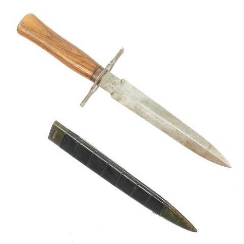 Original French WWI M1916 Type 2 Fighting Knife by Gonon 41 with Scabbard - Le Vengeur de 1870 Original Items