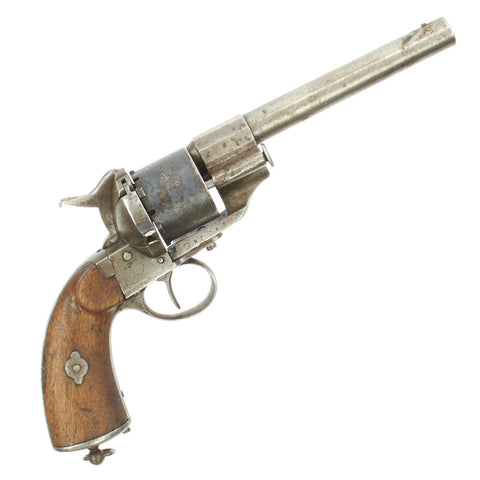 Original French M1854 Lefaucheux Cavalry Model 12mm Rimfire Conversion Revolver - Serial 96782 Original Items