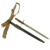 show larger image of product view 1 : Original U.S. WWI M1917 Enfield Bayonet with Belt & Frog Reissued for WWII British Home Guard Original Items