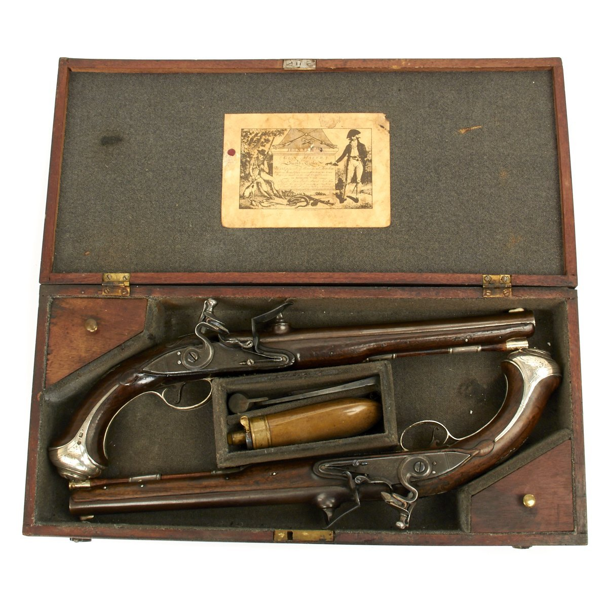 Original British 18th Century Breech Loading Pistols by