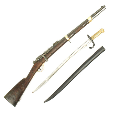 Original French Gras 11m Model 1874 Carbine with Bayonet dated 1881 - Camel Gun