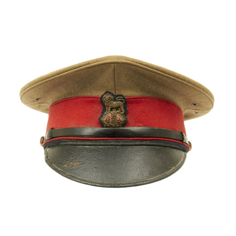 Original British WWI Staff Officer's Peaked Cap with Provenenance Tag