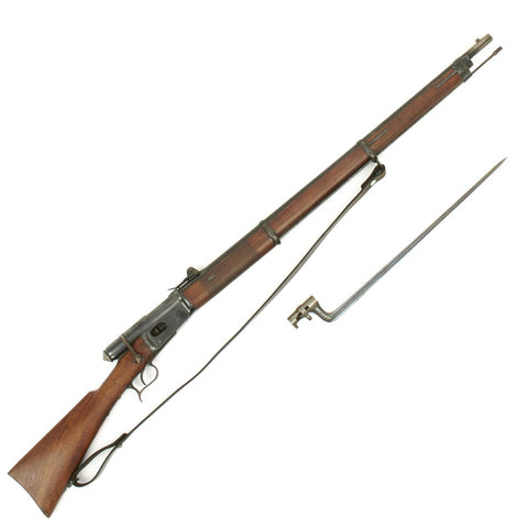 Original Swiss Vetterli Repetiergewehr M1871 Infantry Magazine Rifle Serial No 25074 with Bayonet and Sling - 10.35 x 47mm