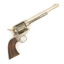 Original U.S. Colt Nickel-Plated Single Action Army .44/40 Caliber Revolver Serial 64654 - Made in 1881
