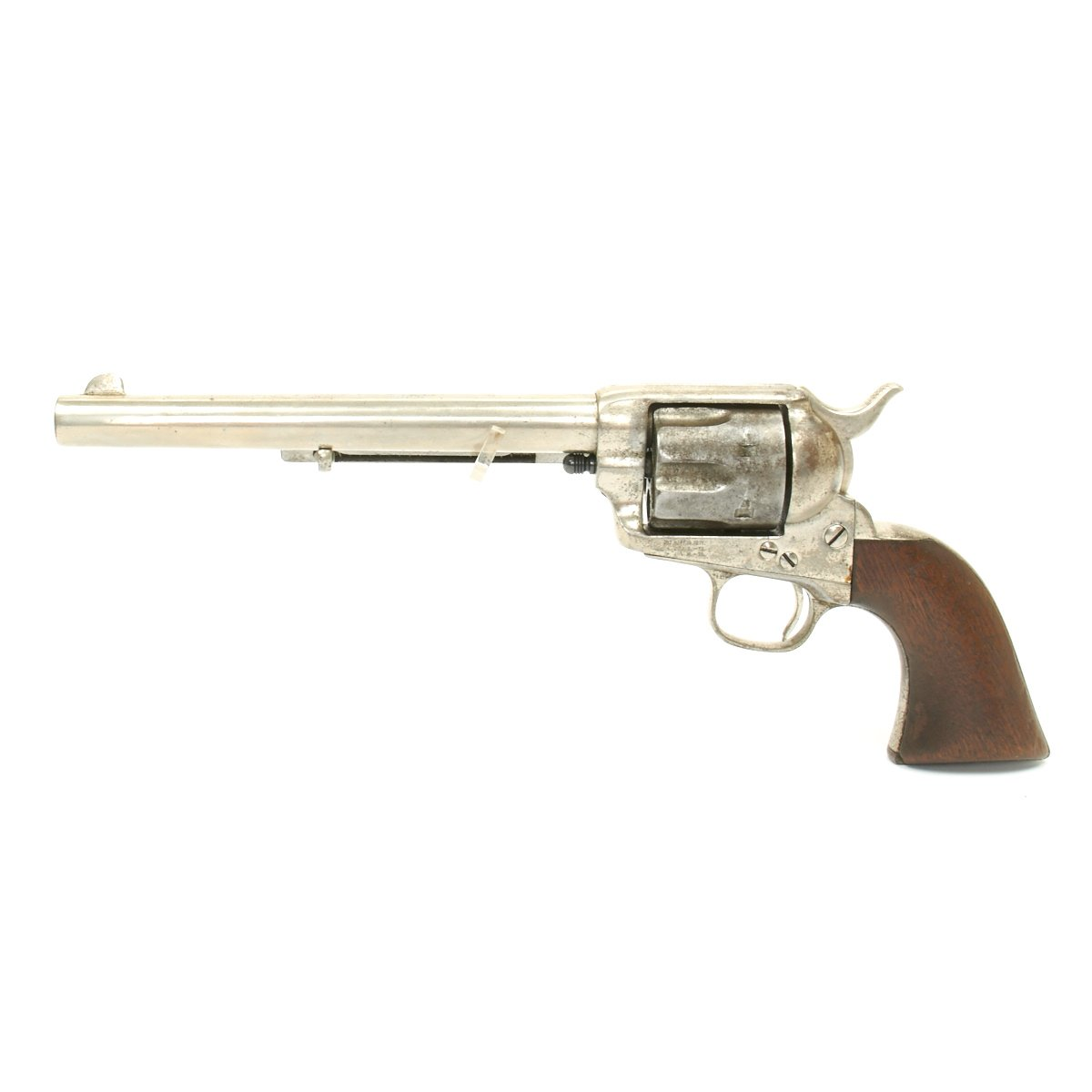 Original U S  Colt Nickel-Plated Single Action Army  44/40 Caliber Revolver  Serial 64654 - Made in 1881