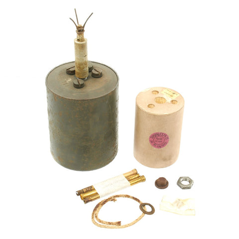 Original WWII German 1940 dated Bouncing Betty S-Mine by Richard Rinker with Shrapnel and Mock Explosive Original Items