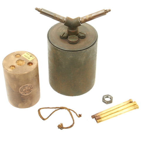 Original WWII German 1939-dated Bouncing Betty S-Mine by HAGENUK with Shrapnel and Mock Explosive Original Items