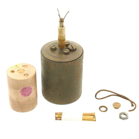 Original WWII German 1938-dated Bouncing Betty S-Mine by HAGENUK with Shrapnel and Mock Explosive Original Items