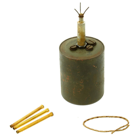 Original WWII German Bouncing Betty S-Mine with Shrapnel with Grass Blade Fuse