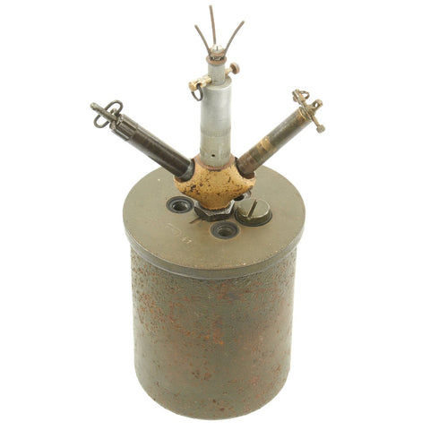 Original WWII German 1941 Bouncing Betty S-Mine by HAGENUK with Rare Triple Fuse Elbow and Shrapnel Original Items