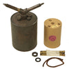 show larger image of product view 1 : Original WWII German 1940 dated Bouncing Betty S-Mine by Richard Rinker with Shrapnel and Mock Explosive Original Items