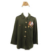 show larger image of product view 1 : Original Soviet Cold War Infantry Officer Uniform Parade Jacket with Medals and Cap Original Items